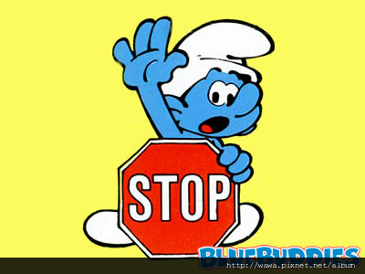 Smurfs_Color_Pictures_Stop_Sign_Smurf