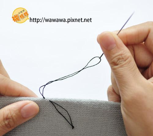 襪娃娃縫法-固定結2