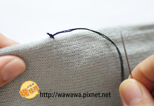 襪娃娃縫法-固定結5