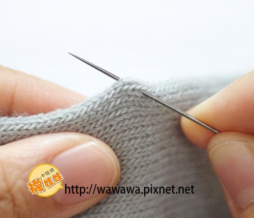 襪娃娃縫法-固定結1