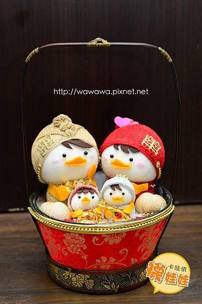 婚禮帶路雞中國風古典提籃