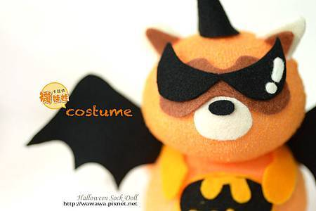 Halloween萬聖節裝扮浣熊襪娃娃-2s.jpg