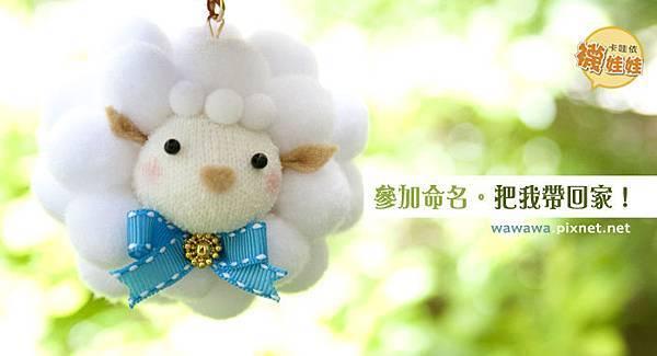 羊咩咩襪娃娃命名活動