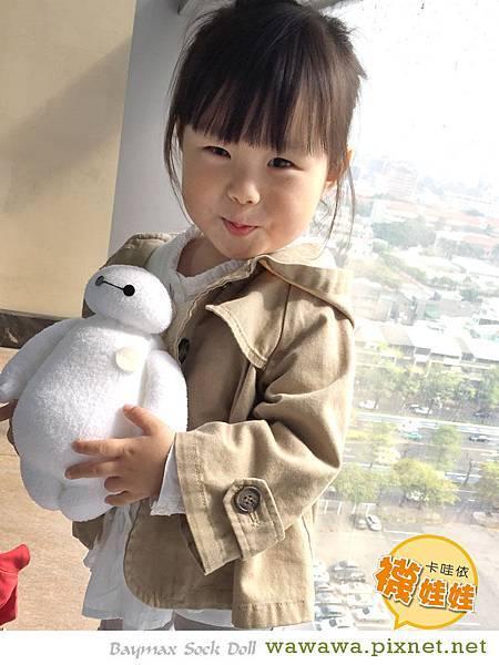 大英雄天團big hero 6 baymax sock doll 杯麵卡哇依襪娃娃-3
