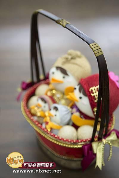 婚禮帶路雞襪娃娃婚禮籃橢圓款-2s