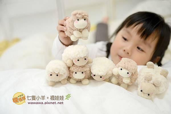 七隻小羊襪娃娃羊咩咩襪子娃娃Emily楊慧淳子寬diy材料包課程邀約.1