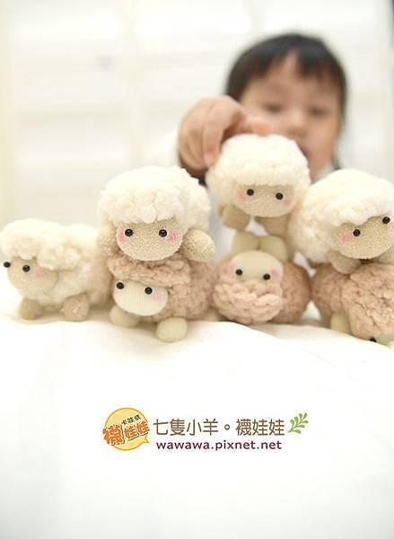 七隻小羊襪娃娃羊咩咩襪子娃娃Emily楊慧淳子寬diy材料包課程邀約.2