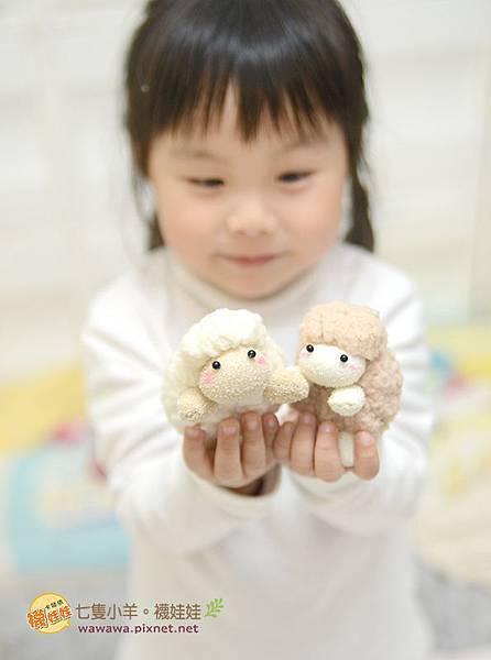 七隻小羊襪娃娃羊咩咩襪子娃娃Emily楊慧淳子寬diy材料包課程邀約.12