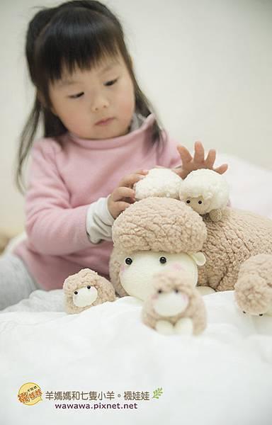 羊媽媽和七隻小羊襪娃娃羊咩咩襪子娃娃Emily楊慧淳子寬diy材料包課程邀約.4