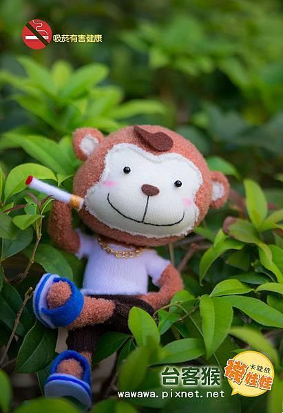 台客猴襪娃娃卡哇依襪娃娃原創設計猴子手縫課程diy材料包