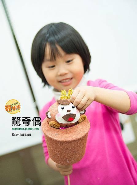 驚奇偶猴子免縫襪娃娃襪子娃娃兒童節diy1