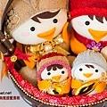 可愛婚禮帶路雞婚禮手工訂製襪娃娃典雅提籃套組.3