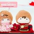 甜蜜婚禮祝福安床娃娃贈禮禮盒組