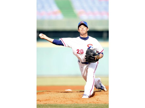 20121105 中華隊6日將由鄭凱文先發。(圖/資料照片中華聯盟提供)