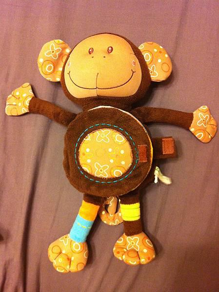 猴子玩偶布書