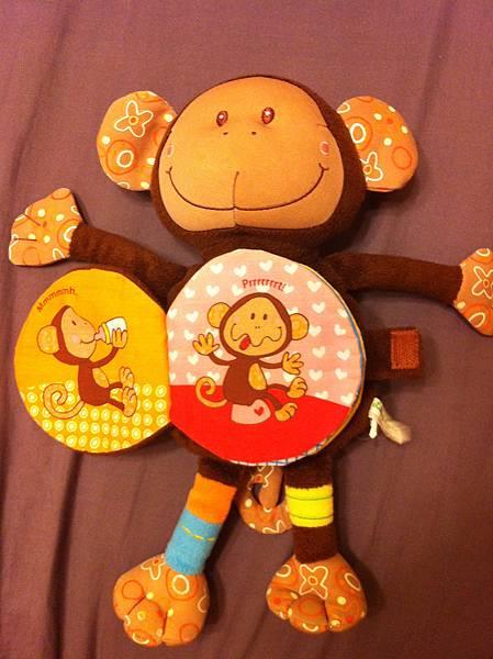 猴子玩偶布書第一頁