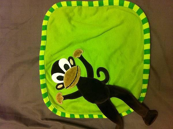 水寶貝第一條安撫巾-小猴子安撫巾