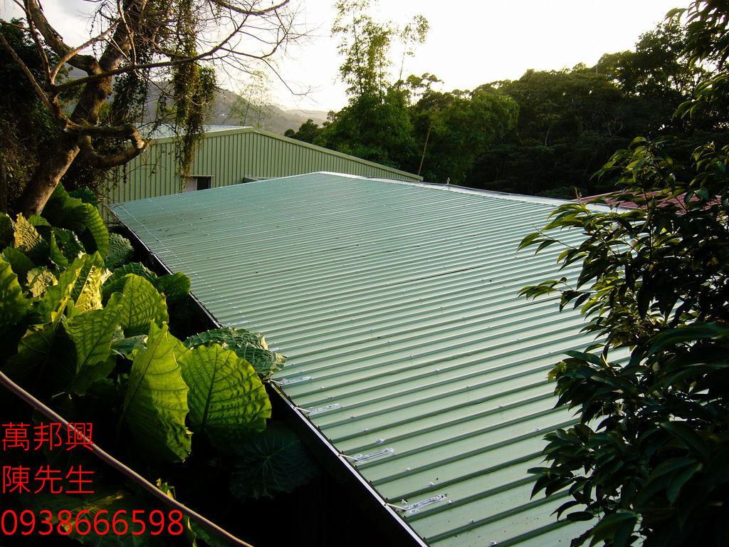 屋頂更換烤漆鋼板