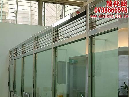 防彈玻璃加鋁窗