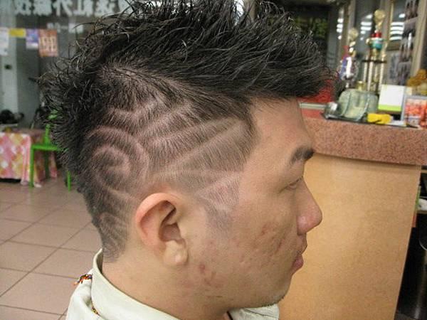髮型雕刻圖騰