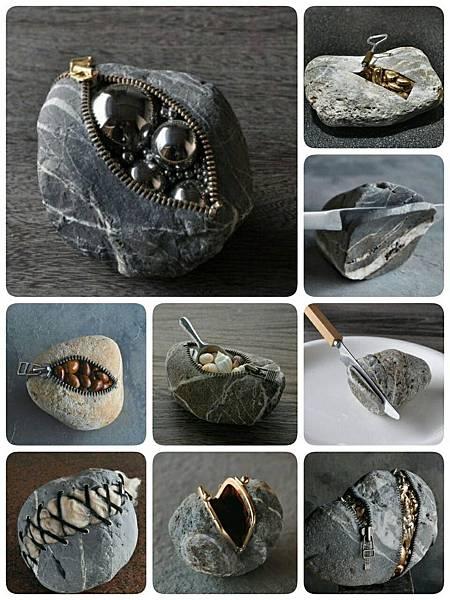 日本艺术家 Hirotoshi Ito 的石头艺术