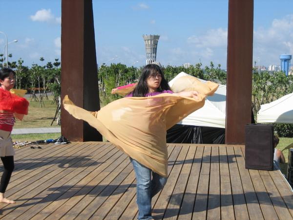 白天彩排-紗巾