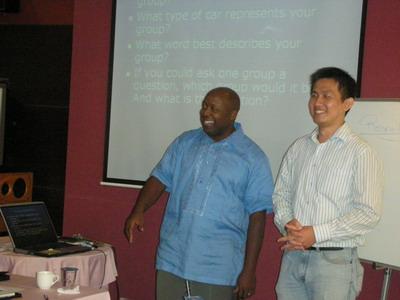 優莎納(USANA)鑽石董事Mike Ray和MSI團隊華人總上線Paxton帶領精采活潑的訓練課程