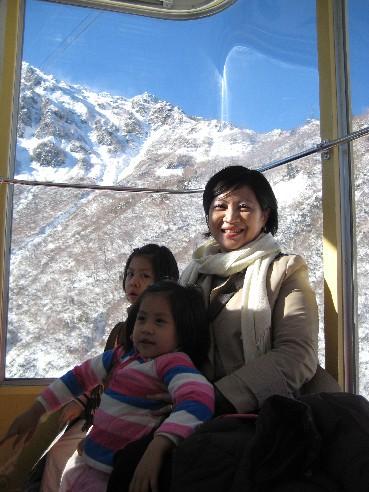 從大觀峰坐纜車到另一個山頭:黑部平