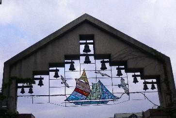 海鳴樓漂亮的音樂玻璃