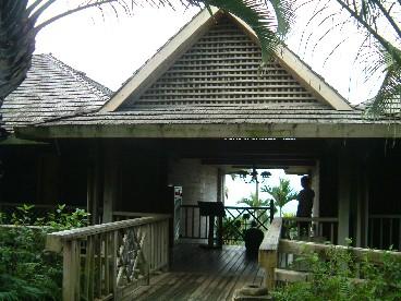 充滿熱帶風情的木屋