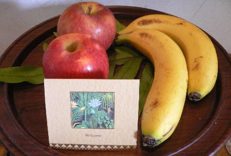 進門就有水果迎接我們