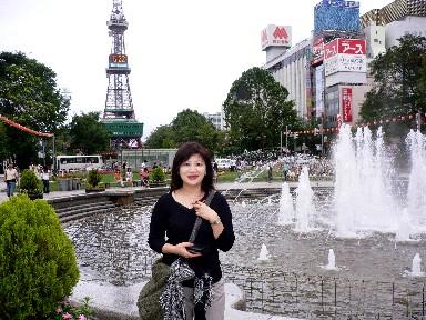 大通公園噴水池和電視塔