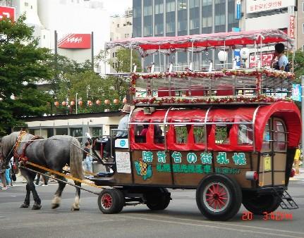 大通公園附近的觀光馬車