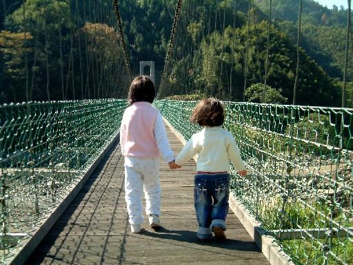往向天湖路上的吊橋