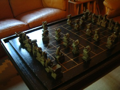 朱銘雕的棋盤