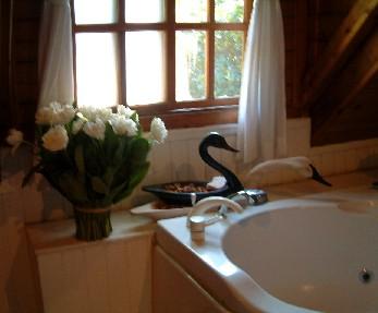 木屋浴室一隅
