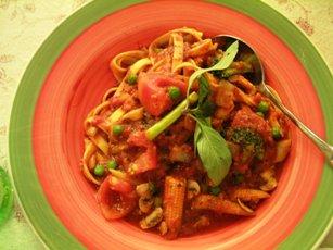 我的蕃茄蔬菜義大利麵