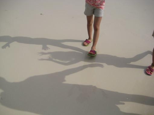 沙地細緻平滑到像水泥地一般