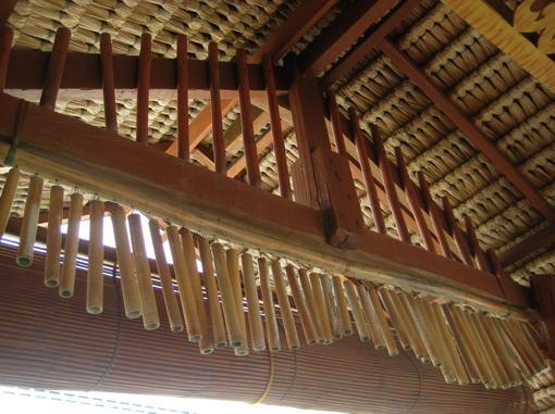 竹子風鈴的聲音跟風情,跟和風黑銅風鈴完全不同~