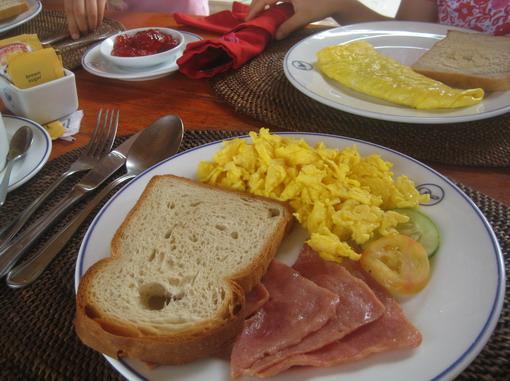 在hut享用營養早餐