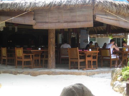 飯店的沙灘餐廳
