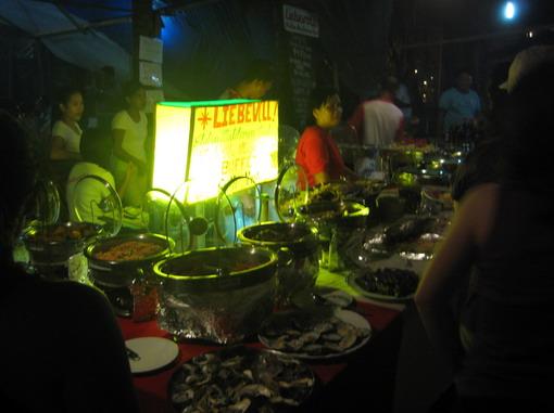 著名的海鮮BBQ
