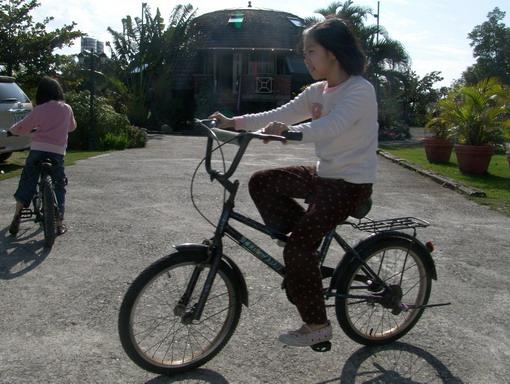 民宿有免費的腳踏車可以騎出去樂樂蛇喲!