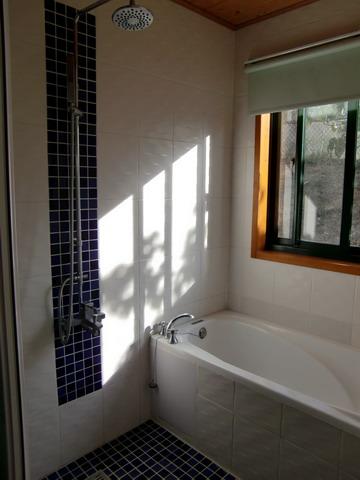 這個浴室更是浪費,誰叫.....外面那個露天淋浴室那麼受歡迎!!