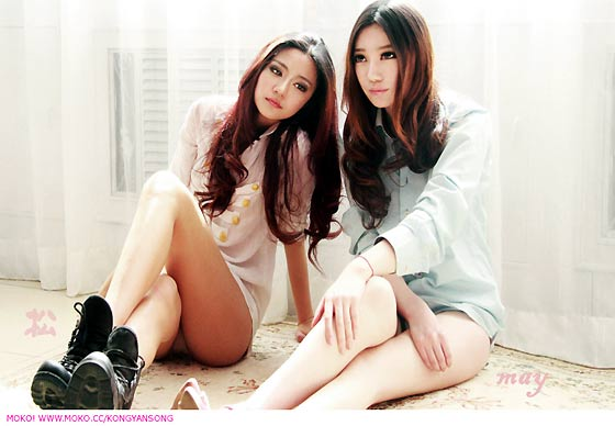 美女雙胞胎孔燕松、孔瑶竹5