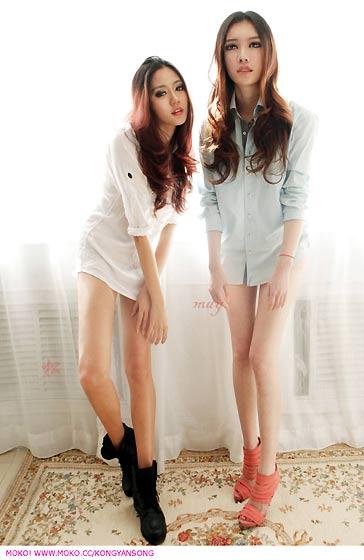 美女雙胞胎孔燕松、孔瑶竹9