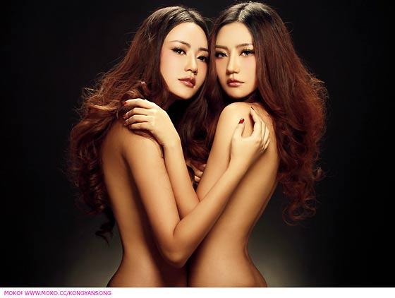 美女雙胞胎孔燕松、孔瑶竹3