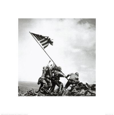 ppr45066~Flag-Raising-on-Iwo-Jima-February-23-1945-Posters.jpg