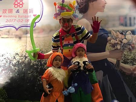 0218高雄國賓婚禮小丑魔術汽球表演 (9).JPG