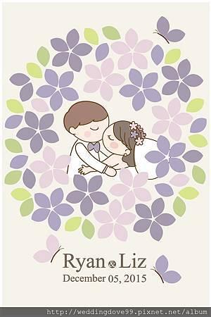 【創意簽名綢】[浪漫花園] 紫